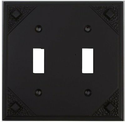 Atlas Homewares MDT-O Craftsman 4-7/8-by-4-7/8-Inch Double Toggle, Aged Bronze
