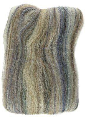 """Wool Roving 12"""" .22 Ounce-Agate Variegated"""