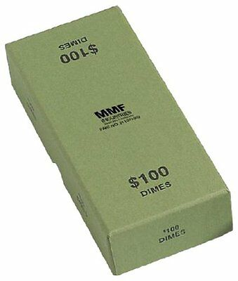 MMF Industries Chipboard Coin Storage Box for Dimes, 100 Dol