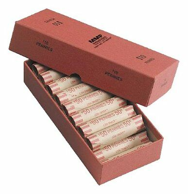 MMF Industries Chipboard Coin Storage Box for Pennies, 10 Do