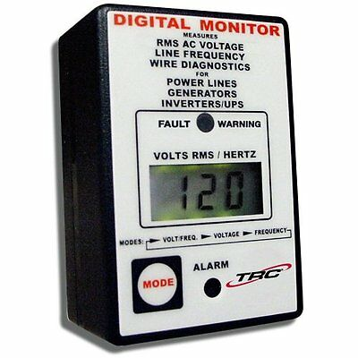 TRC AECM20020-3-012 Electra Check Digital Monitor for All AC Power Sources,