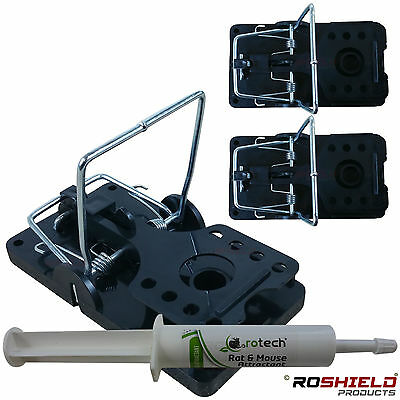 3 x Professional Rat Traps - With or Without Attractant Bait - No Poison Option