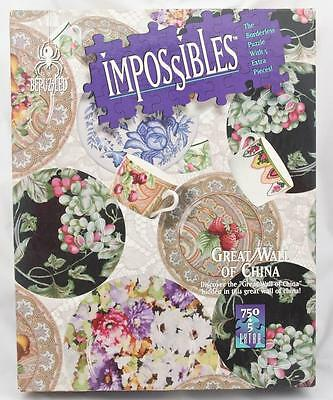 Impossibles Borderless Puzzle 750 PLUS 5 Extra Pieces Great Wall of China Puzzle