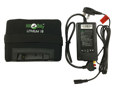 New Hill Billy Lithium 36-Hole Replacement Battery + Charger With Bag