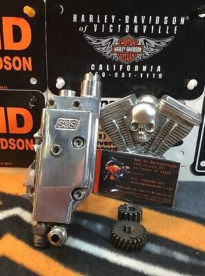 Custom Harley S&S Polished(JUST) Oil Pump Assembly #31-6050 Evo/Shovel (04)