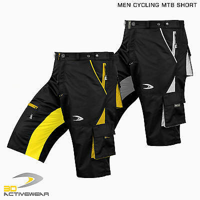 MTB Shy Shorts Mountain Bike Short Cargo Padded Baggy Pants Cycling Knicks