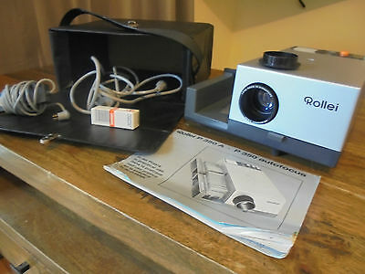 Vintage Rollei  P350A Projector With Remote, All Works Very Well.