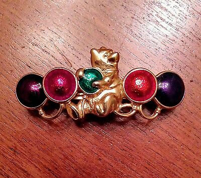 1960's Disney Winnie The Pooh Hair Clip Barrette Made In France