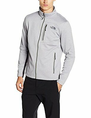 Grigio/Tnflightgreyhtr (TG. XL) North Face M Canyonlands Full Zip Giacca in Pile