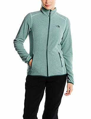 Verde/Ice Green Strpe (TG. Medium) North Face W 100 Glacier Full Zip Giacca in P