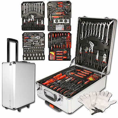 Tool Set Case Hand tool case 599 pcs with Trolley Toolbox Household Kit