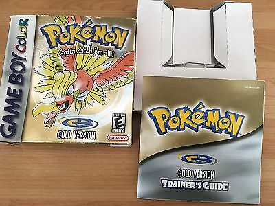 Nintendo Gameboy Pokemon Gold Version Box And Manual Only