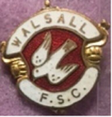 Walsall Football Supporters Club enamel lapel badge