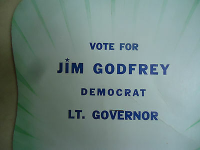 "Collectable Missouri Political Hand Fan ""Vote for Jim Godfrey Democrat Lt. Goven"