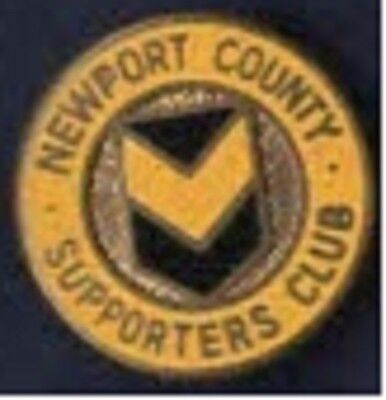 Newport County Supporters Club enamel lapel badge