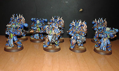9 Thousand Sons Chaos Space Marine pro painted warhammer 40.000