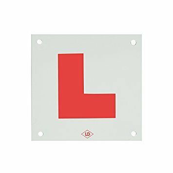 Rigid Hard L Plate With Drilled Holes Motorcycle Moped Car Learner Legal