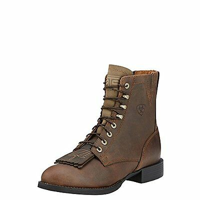 Ariat Women's Heritage Lacer II Western Cowboy Boot, Distressed Brown, 7.5