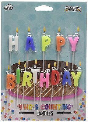 Who's Counting Candles ~ Happy Birthday ~ joke birthday colour cake gift W5073