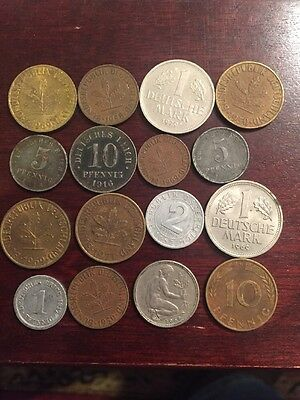 German Empire/federation Lot Of Old Coinage