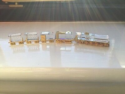 Swarovski Crystal Train With Carriages