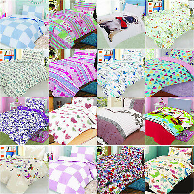 Cotton Rich Printed Cot Bed Duvet Covers