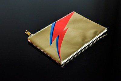 David Bowie is Japan Exhibition Lightning Bolt Pouch Gold F/S