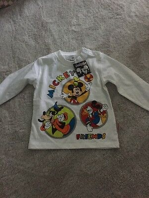 Baby Boys Mickey Mouse Long Sleeve Top Age 18 Months From Disney
