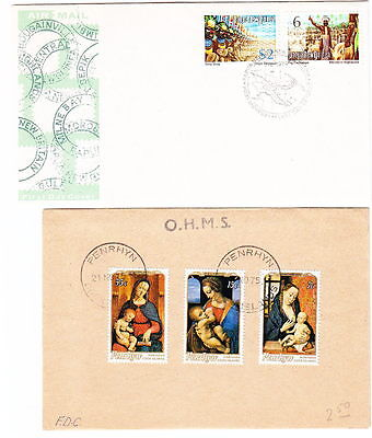 British Pacific Is, 4 FDC, 1972-5, Lot 5427