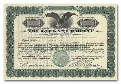 Go-Gas Company Stock Certificate