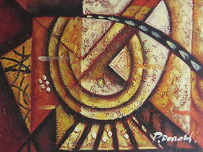 """Original Hand Painted Sand Colored Abstract 8""""x10"""" Oil Painting Canvas Art"""