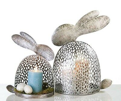 "Casablanca * Hase ""Purley"" * 30 x 18 cm * Silber * Metall * Ostern * Osterhase"