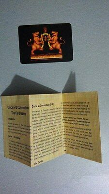 Discworld Convention 2014 Card Game Instructions Page Rules Leaflet Pamphlet