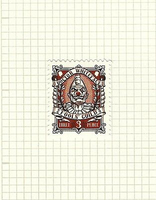 Discworld Stamp 2015 Fools Guild Doctor Whiteface Schnozzle Red Nose SPORT Rare