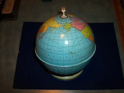 Vintage Chad Valley Small Childrens Globe Of The World With Flags Of The World