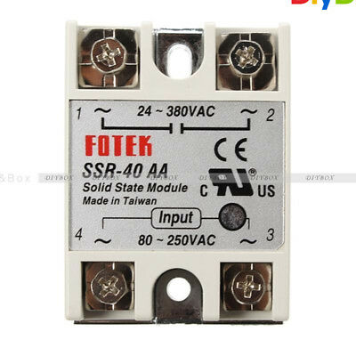 SSR-40AA-H 40A Solid State Relay Module 80-280V AC / 90-480V AC