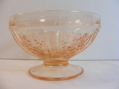 Depression Glass Pink Sharon Cabbage Rose Federal 1930's Sherbet Cup