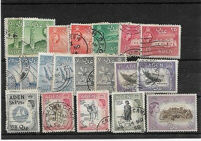 Aden QE2 1953 set, values to 20/- Fine used
