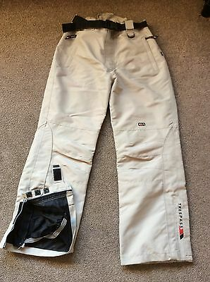 Men's Trespass Ski Snowboard Trousers Salopettes In Beige Size Large 34