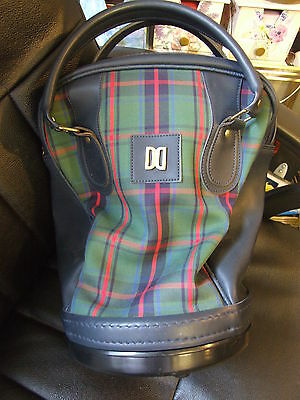 Gent's Daks Signature Check / Leather Handles/ Practice Golf Ball Bag
