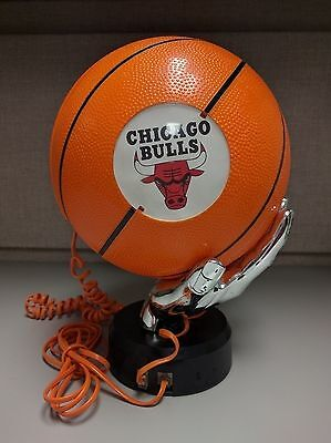 NBA Chicago Bulls Basketball Shaped Push Button Telephone - Tested and Working