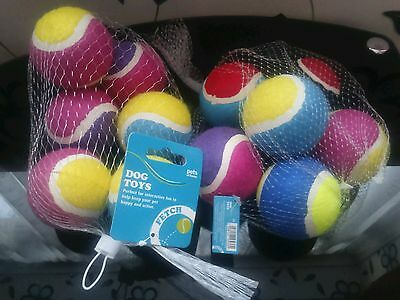 Pets at home 12 new tennis balls/dog toys- unwanted gift