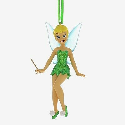 Authentic Disney Parks Tinker Bell Glitter Ornament w/ Magic Wand Christmas