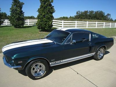 1968 Ford Mustang Fastback V8 and For speed, Factory highland green car