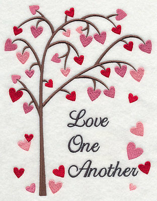 Large Embroidery quilt block,cushion panel,wall art, machine,quilt,love,tree