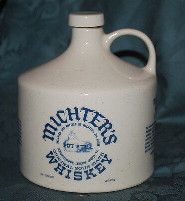 MICHTER'S 1 Quart - WHISKEY JUG DECANTER - Series B - Excellent Condition