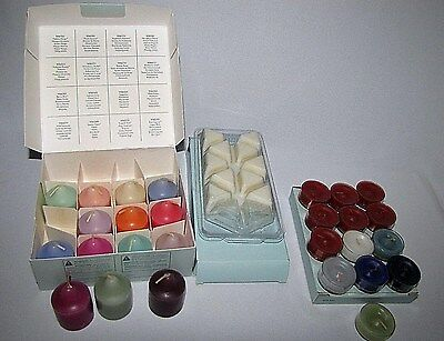 Lot of Partylite Scented Candles 14 Votives 13 Tea Lights and Melts