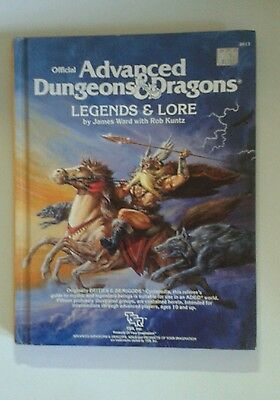 legends & and lore 1E AD&D fantasy RPG roleplaying book tsr 1st edition