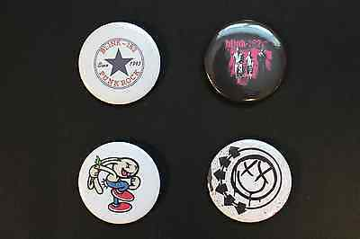 """Rare Set Of (4) Large «Blink 182» Pin Back Buttons 2¼"""""""