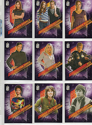 Dr Doctor Who Timeless  -  10-card Companions Across Time chase set NM Topps